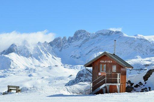 Ski, Wc, Chalet, Mountain, Alps, Rustic, Savoie, Snow