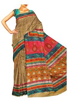 Saree, Indian, Ethnic, Clothing, Fashion, Silk, Dress