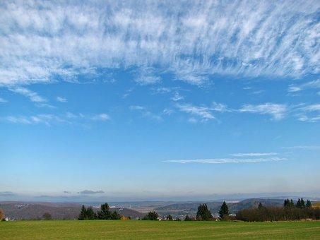 Cirrostratus, Landscape, Skyscape, Sky, Cloud, Clouds