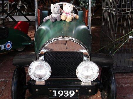 Soft Toy, Cat, Pair, Stuffed Animal, Teddy Bear, Auto