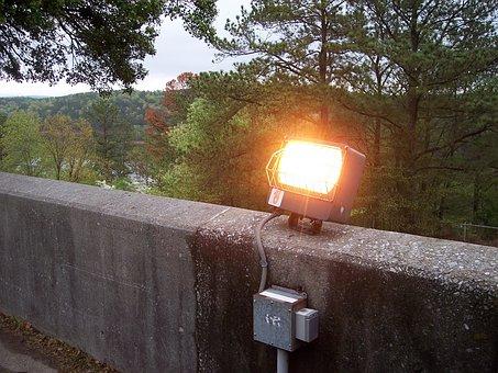 Street Lamp, Illumination, Light, Wall, Stone, Forest