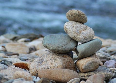 Roller, Zen, Wild, Stones, Water, Rest, Holiday