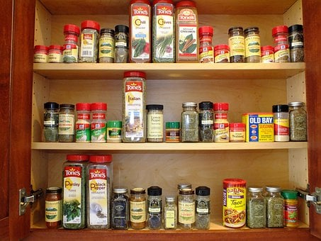 Cabinet, Spices, Orderly, Organize, Organized, Storage
