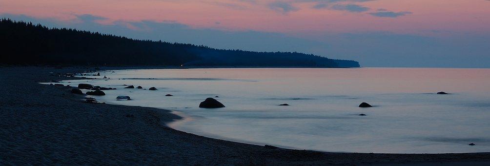 Ladoga, Evening, Summer, Russia, Lake