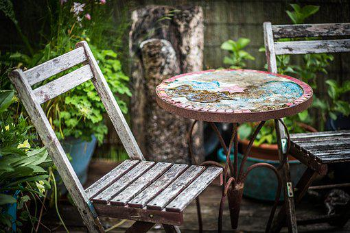Garden, Weathered, Wood, Terrace, Chair, Old Wood