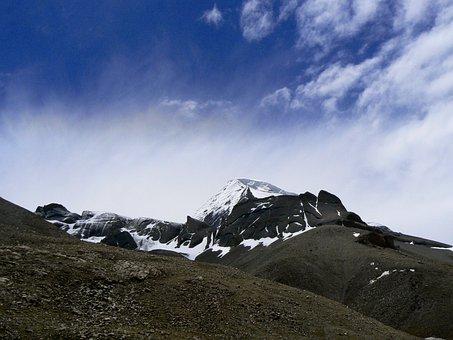Kailash, Tibet, Himalayas, Mountain, Landscape
