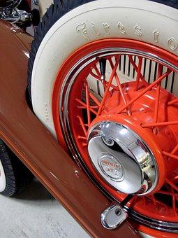 Chrysler Sport Coupe, 1932, Tire, Antique Cars