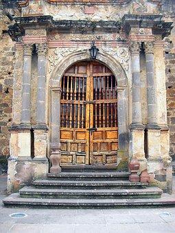 Mexico, Door, Old, Town, Vintage, Village, Rural, Wall