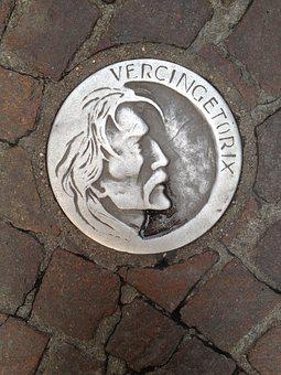 Vercingetorix, Clermont-ferrand, Medaillon, Auvergne