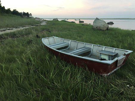 Boat, Grass, Water, Sky, Nature, Summer, Outdoor, Sea