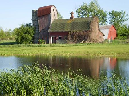 Barn, Water, Old Barn, Agriculture, Farm, Structure