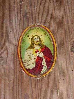 Veneer, Door, Protection, Amulet, Sacred Heart