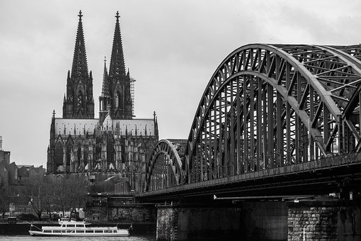 Cologne Cathedral, Bridge, Church, Cathedral