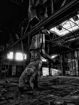 Grey, Dark, Factory, Building, Old, Decay, Cologne