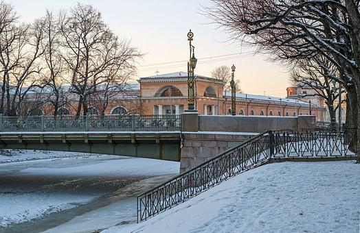 City, Spb, St Petersburg Russia, Winter, Beautiful