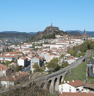 The Puy In Velay, Auvergne, City, Panorama, Volcano
