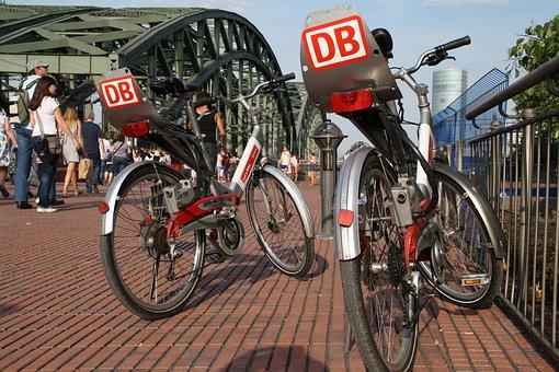 Bicycles, Wheels, Cycling, Cologne, Hohenzollern Bridge