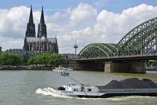 Cologne, Rhine, Hohenzollern Bridge, Dom