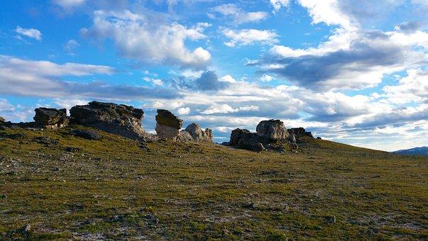 National Park, Peak, Sky, Rocks, Colored Rocks