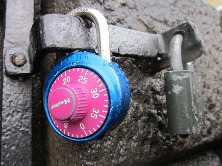Combination Lock, Combination, Castle, Padlock