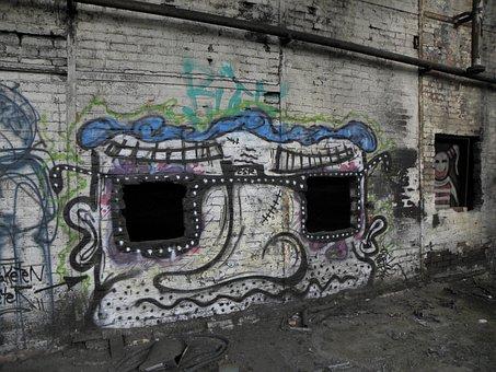 Graffiti, Wall, Cologne, Deutz Ag, Deutz Factory, Khd