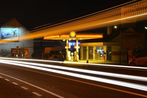 Lights, Night, Evening, Slow Shutter Speed, Traffic