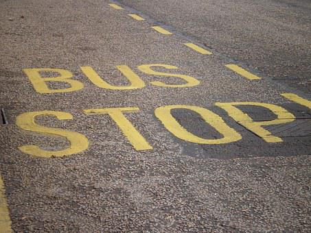 Busstop, Bus, Stop, Asphalt, Font, Traffic, Bus Stop