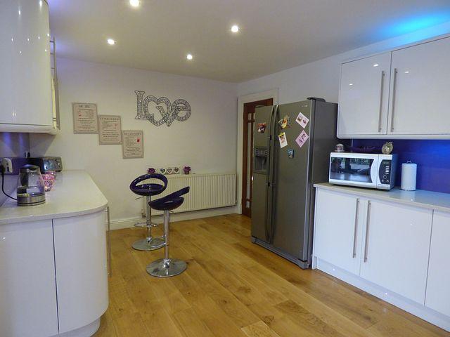 Kitchen, White, Gloss, Home, Design, Interior, Modern