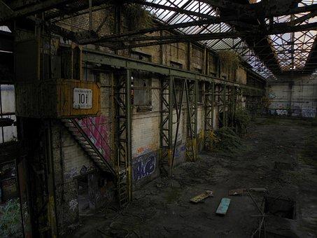 Factory, Age, Decay, Leave, Khd, Deutz Factory, Cologne