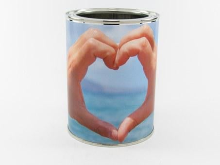 Glance, Tin, Sheet, Metal, Paper, Container, Silver