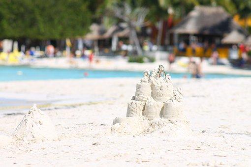 Sand, White Sand, Summer, Beach, Sand Castle