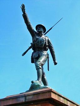 Soldier, Statue, War, History, Sculpture, Historic