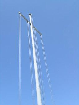 Cross, Auction, Metal Pole, Structure For Sailing