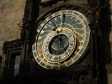 Time, Orloj, Czech Republic, The Town Hall, Clock