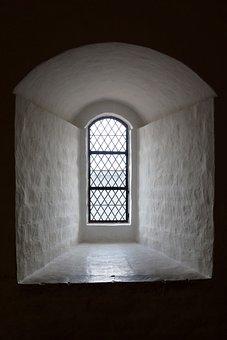 Window, The Window Recess, Castle Window, White Wall
