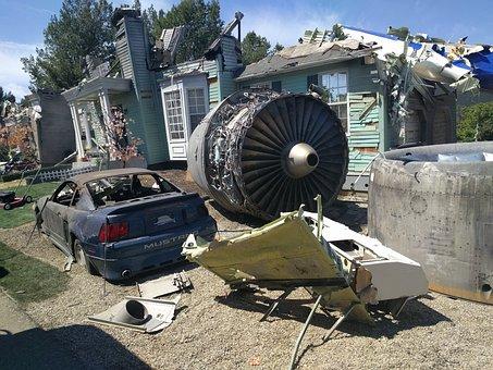 Plane, Crash, Airplane, Aeroplane, Retro, Crashing