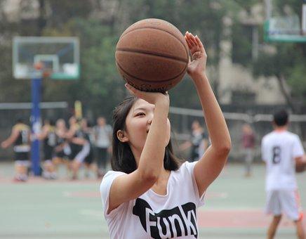 Basketball, Girls, Shoot A Basket, Sports, Ball