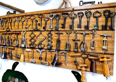 Old, Bottle Opener, Collection, Corkscrew