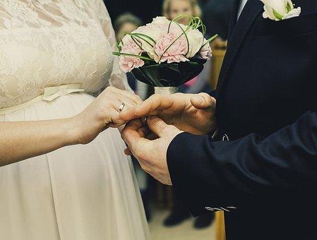 Wedding, Ceremony, Bride, Groom, Celebration, Couple