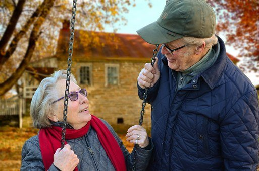 Old People, Couple, Together, Connected, Rock