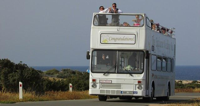 Cyprus, Cavo Greko, Wedding Bus, Fun, Happy, Tour