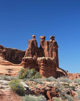 Arches, Sandstone, Rock, Nature, Utah, Desert, Red