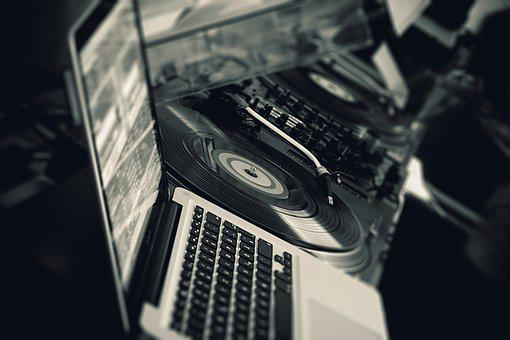 Dj, Music, Turntable, Digital