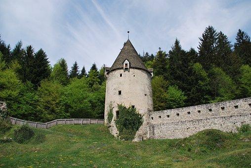 Tower, Slovenia, žička Karturzija, Fence, Old, Castle