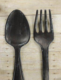 Fork, Knife, Farm To Table, Fork And Spoon, Rustic