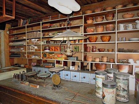 Old, Trade, General Store, Shop, 50-number, 40-number