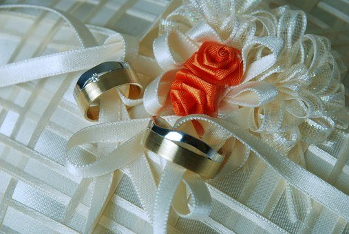 Gold Wedding Rings, Beautiful Wedding Background, Rings