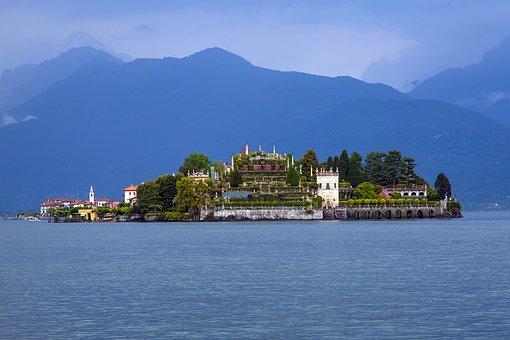Island, Lago Maggiore, Isolabella, Italy, Lake