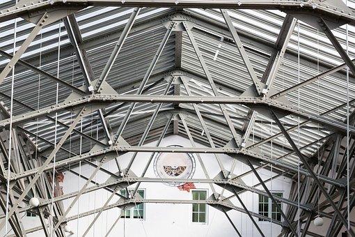 Hall, Crane, Metal, Restored, Kilo, Kg, Steel