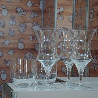 Glass, Giant, Set, Studio, Curves, Simplicity, Line